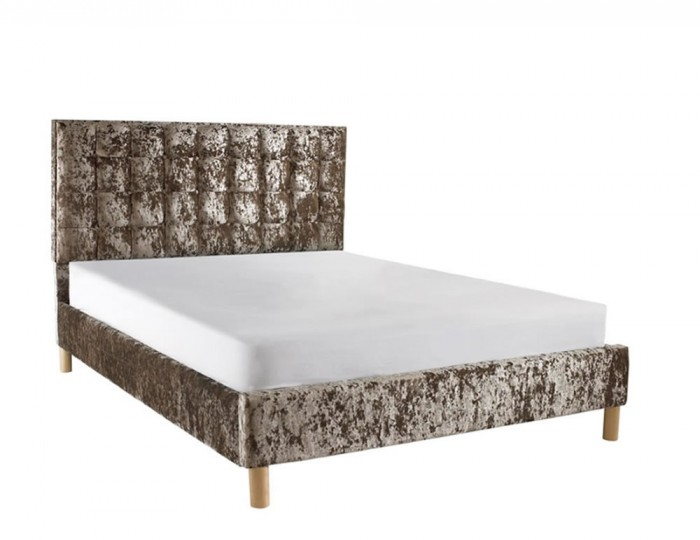 Roman Crush Velvet Low Footend Bed Frame