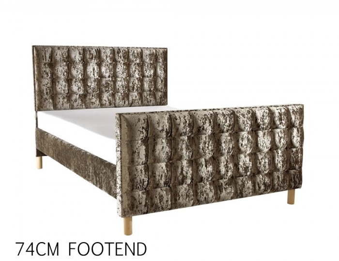 Roman Crush Velvet High Footend Bed Frame