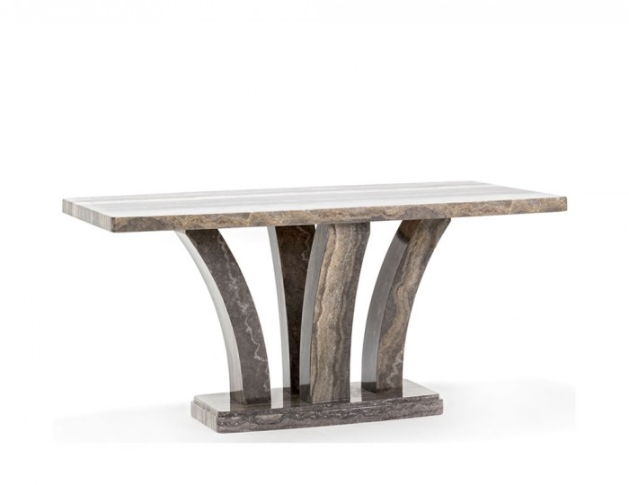 Monterosso Pearl Grey Marble Dining Table