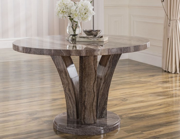 monterosso round pearl grey marble dining table frances hunt