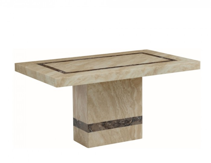 Charleston 150cm Cream Marble Rectangle Dining Table