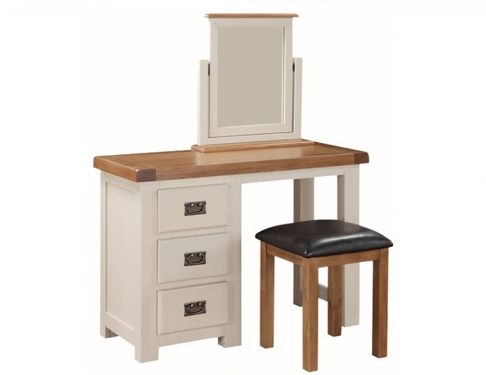 Walden Stone White and Oak Dressing Table Set