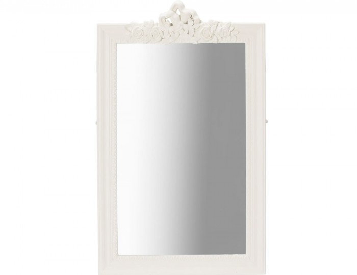 Candace White Painted Wall Mirror