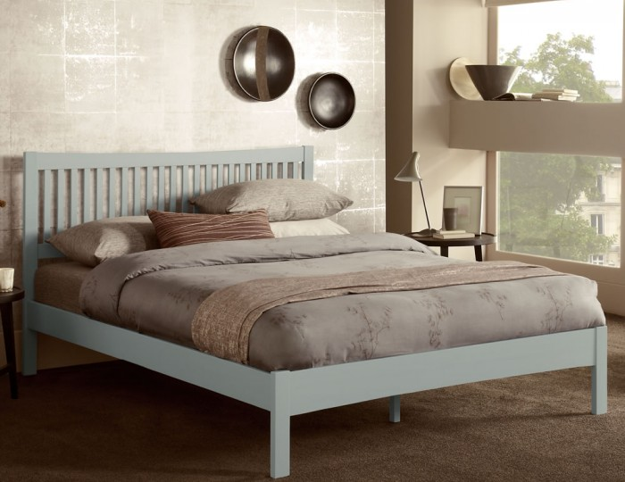 Maya Hevea Grey Bed Frame