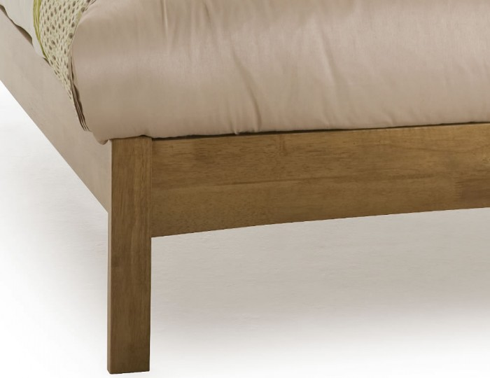 Maya Hevea Honey Oak Bed Frame Frances Hunt