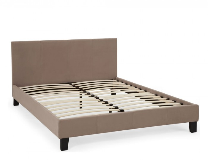 Avella Latte Fabric Bed Frame