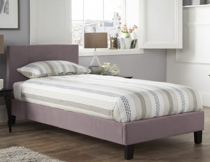 Avella Lavender Fabric Bed Frame
