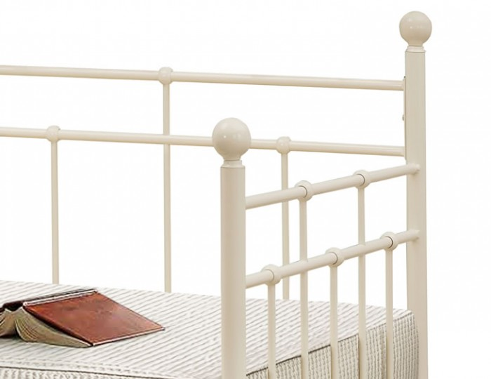 Justine 3ft Cream Metal Day Bed