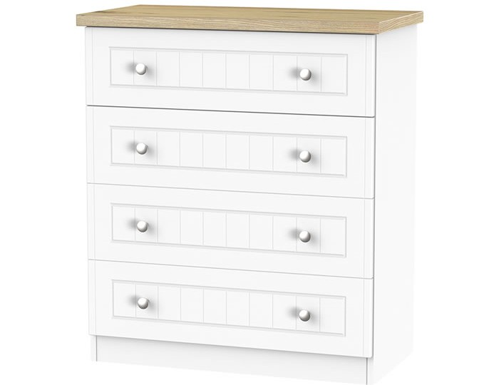 Catalonia Porcelain and Bordeaux Oak 4 Drawer Chest