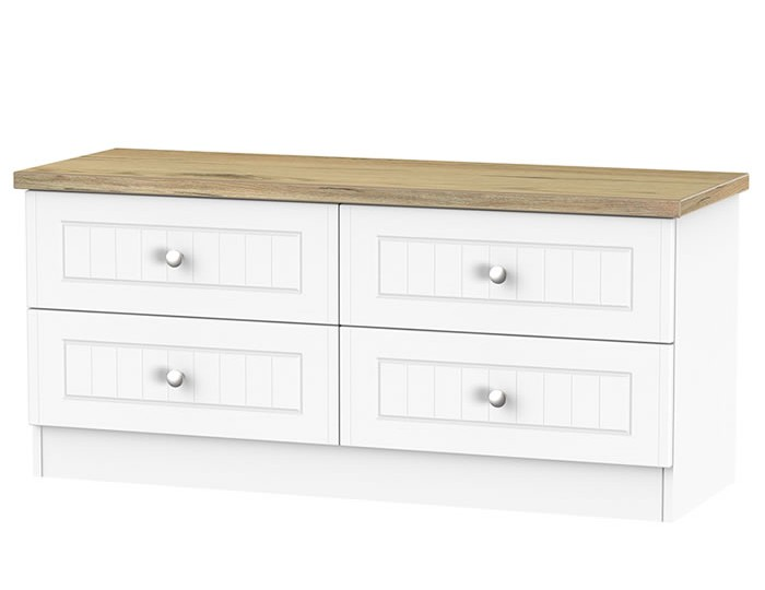 Catalonia Porcelain and Bordeaux Oak 4 Drawer Bed Box Chest