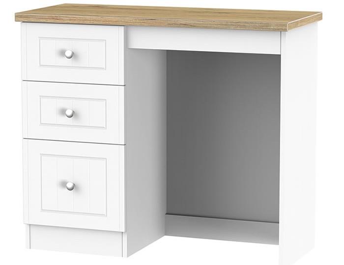 Catalonia Porcelain and Bordeaux Oak Single Dressing Table