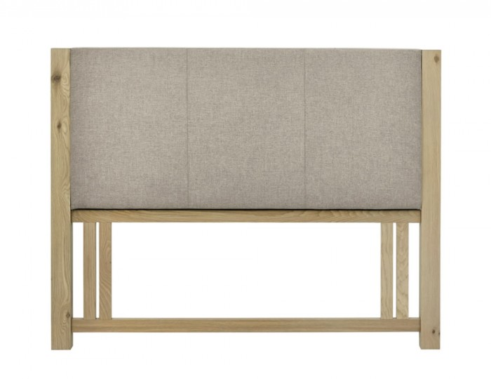 Renzo Aged Oak Upholstered Headboard