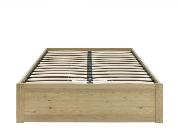 Renzo Aged Oak Slatted Storage Bed