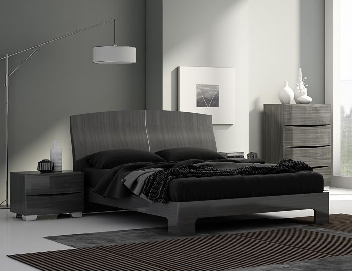 Lansbury Grey High Gloss Bed Frame