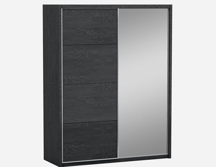 Lansbury Grey High Gloss Wooden Sliding Wardrobe