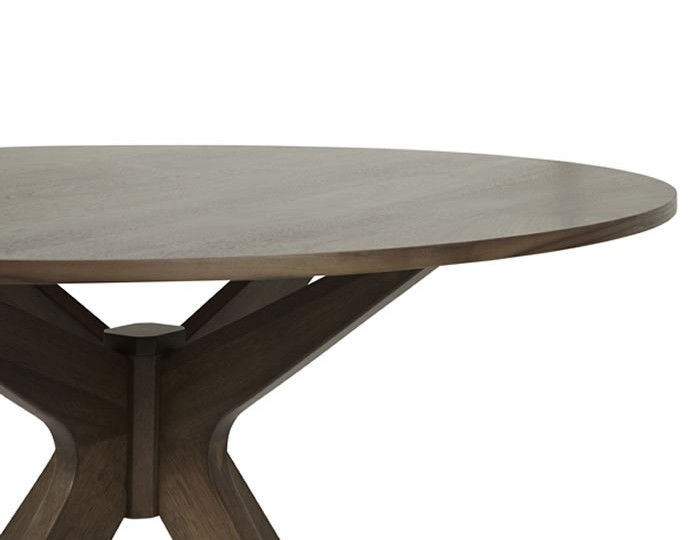 Barnstable Walnut Round Dining Table