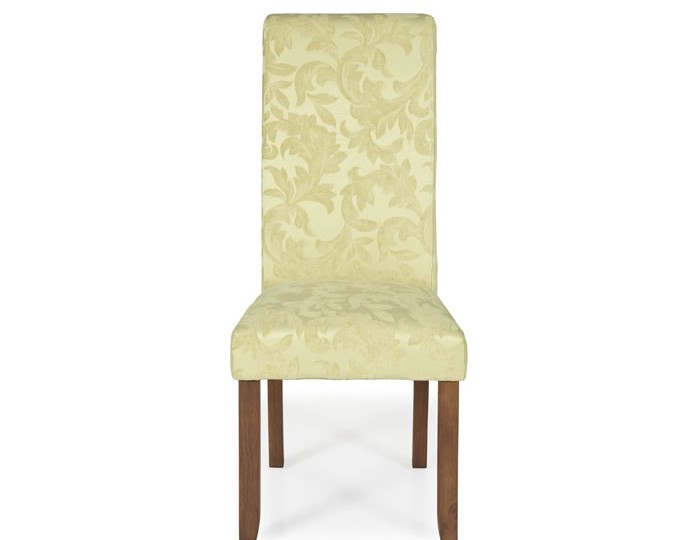 Barnstable Oatmeal Floral and Walnut Dining Chairs
