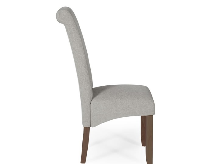Barnstable Silver Fabric and Walnut Dining Chairs