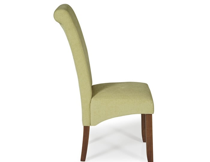 Barnstable Oatmeal Fabric and Walnut Dining Chairs