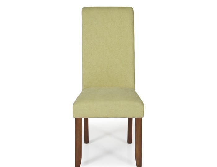 Barnstable Mustard Fabric and Walnut Dining Chairs