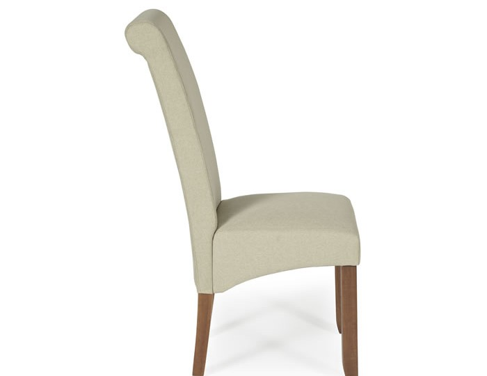 Barnstable Latte Fabric and Walnut Dining Chairs