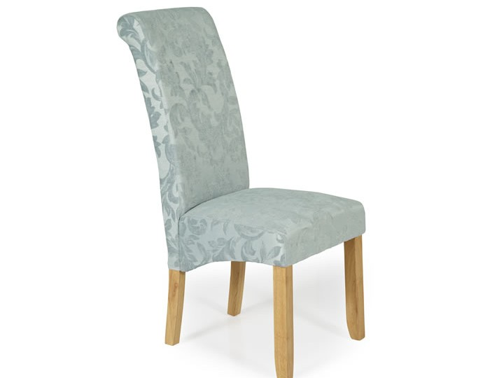 Barnstable Duck Egg Floral And Oak Dining Chairs Frances