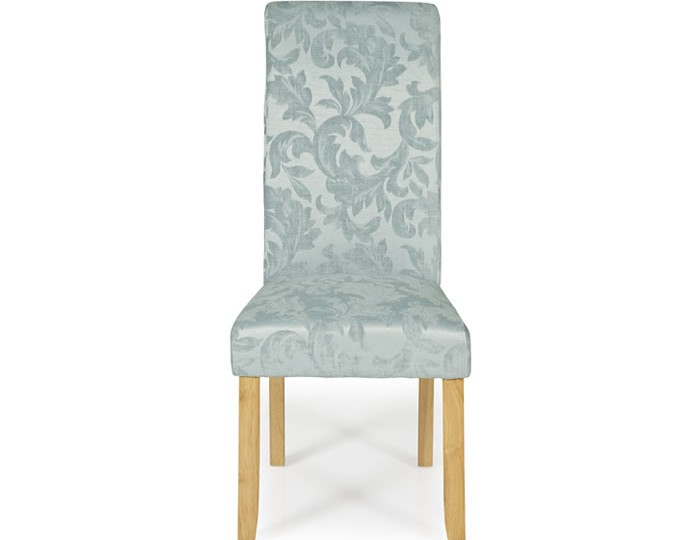 barnstable duck egg floral and oak dining chairs frances hunt