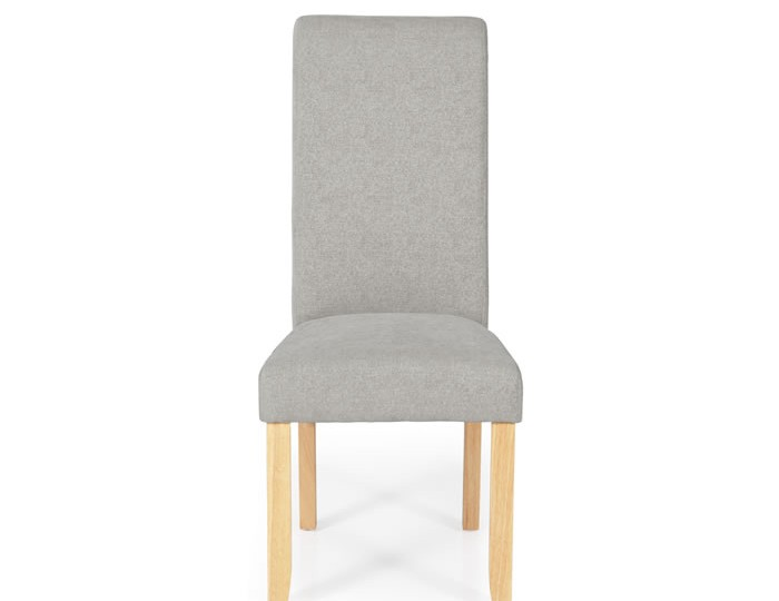 Barnstable Silver Fabric and Oak Dining Chairs