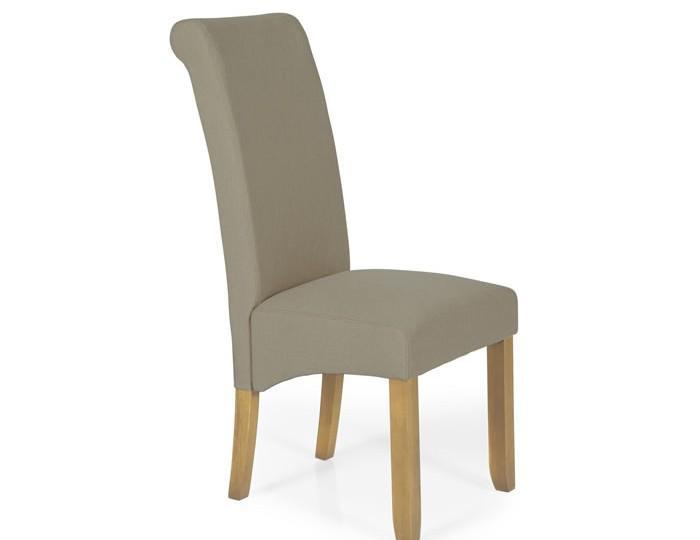 Barnstable Natural Fabric and Oak Dining Chairs