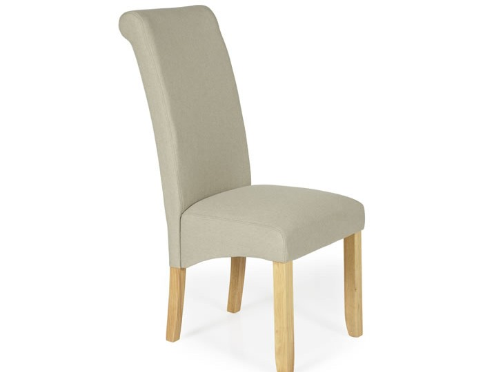 Barnstable Latte Fabric and Oak Dining Chairs
