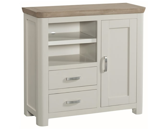 Angelo Stone Painted and Oak Media Unit