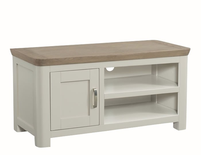 Angelo Stone Painted and Oak Small TV Unit