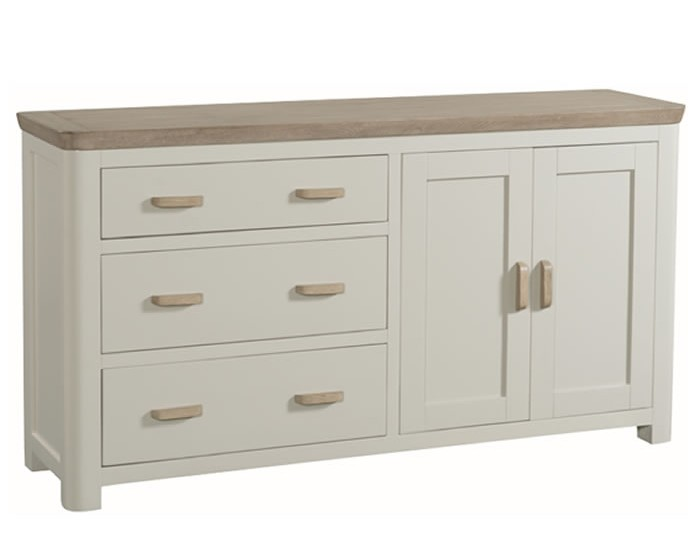 Angelo Stone Painted and Oak Large Sideboard