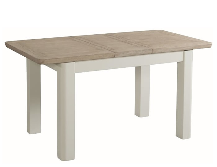 Angelo stone painted and solid oak 120cm extending dining for 120cm extending dining table