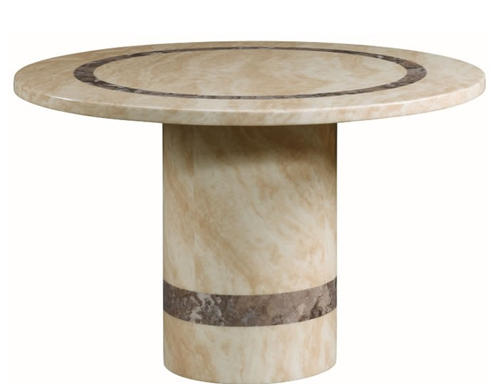 Charleston cream marble round dining table for Cream round dining table