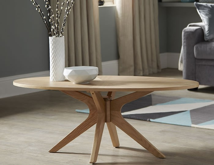 Bedford Oval Oak Coffee Table