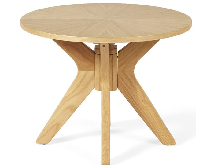 Bedford Round Oak Lamp Table