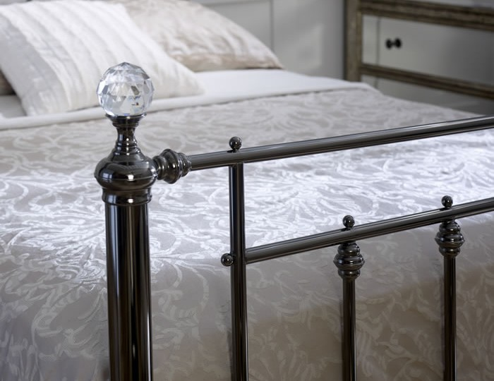 Libra Crystal and Chrome Bed Frame