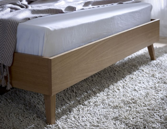 Emerson Oak and Oatmeal Bed Frame