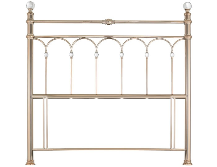 Krystal Rose Gold Metal Headboard