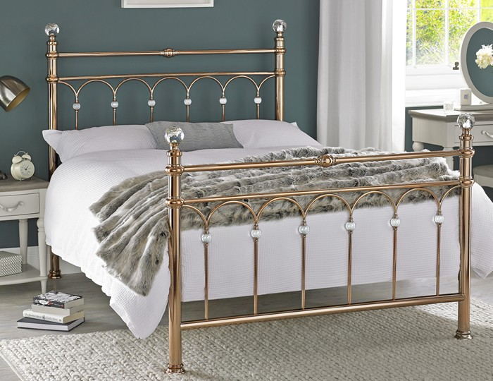 krystal rose gold metal bedstead 11703 | 12874 1