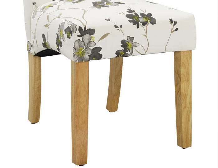 Jeyda Floral Fabric Dining Chair