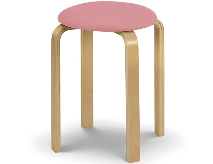 Hadley Pink Faux Leather Childrens Stool