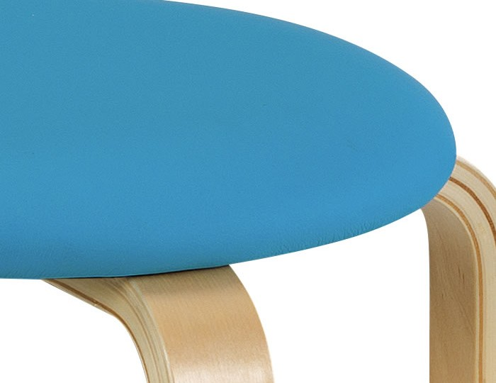 Hadley Blue Faux Leather Childrens Stool