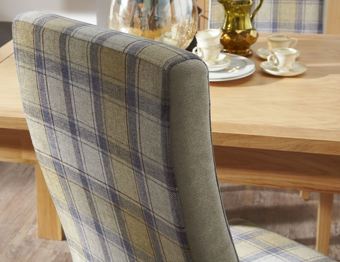 Missouri Stone Tartan and Oak Dining Chair