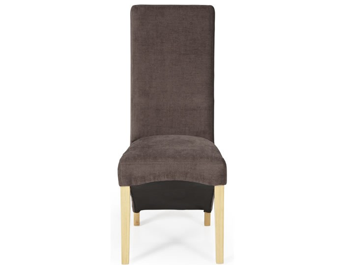 Missouri Brown Fabric and Oak Dining Chair
