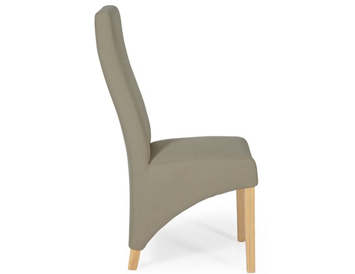Missouri Natural Fabric and Oak Dining Chair