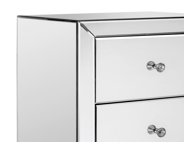 Cortese Mirrored 5 Drawer Tall Chest