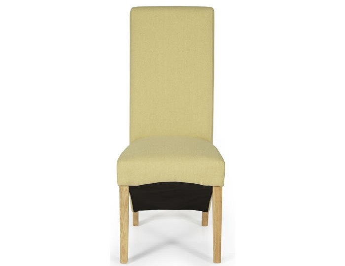 Missouri Mustard Fabric and Oak Dining Chair