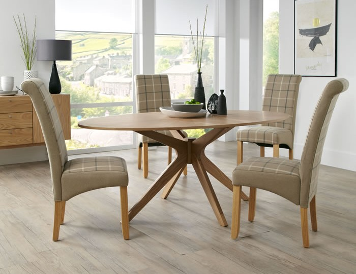Bedford Oval Oak Dining Table and Chairs